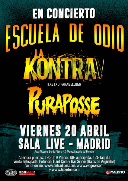 cartel EDOLA KONTRAPURAPOSSE Madrid